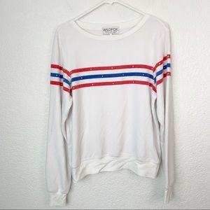 Wildfox Striped Long Sleeve Shirt Small